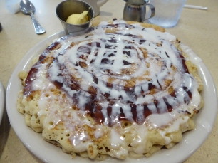 Cinnamon Roll Pancakes in Kansas City!