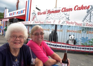 Norma and Joanne at Rocky Point