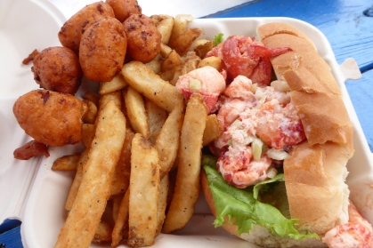 Clam cakes, fries and a lobster roll, Rocky Point, Warwick, RI