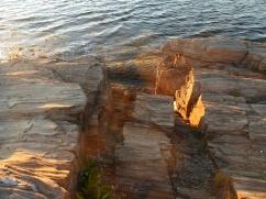 Rocks and sea and light