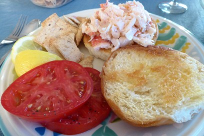 Lobster Roll and Farm Fresh Tomatoes