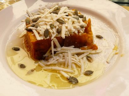 The Specialty: Flan di Zucca (pumpkin flan). Even those who aren't big fans of pumpkin love this!