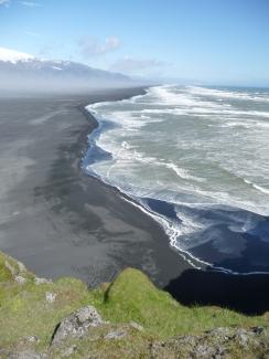 The dramatic, windy coast