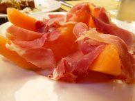 Prosciutto with amazingly ripe melon