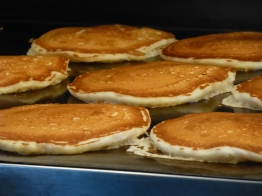 Happiness is pancakes on a grill...