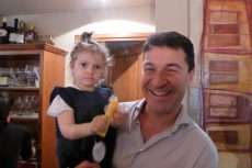 Enrico and his beautiful daughter, Sophia