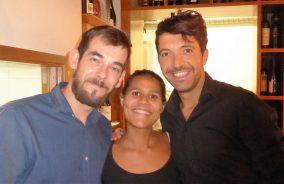 Zeljan, Barbara and Daniele at Trattoria Monti