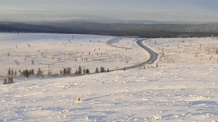 The road from Ivalo to Saariselka