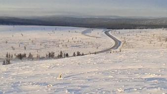 The road from Ivalo to Saariselka