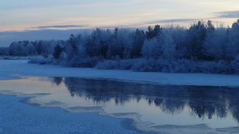 Dusk in Lapland... the time: 2:15 PM