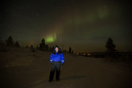 The Aurora makes its first appearance on the northwestern horizon.