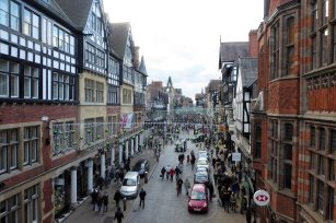 Chester shopping district