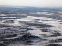 Flying over Lapland