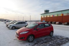 My chariot awaits at the Ivalo Airport