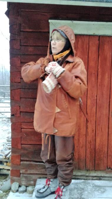 Our hostess at the Reindeer Farm near Inari