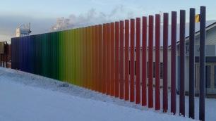 Festive fence in Saariselka