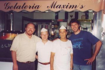 Matt with Salvatore, his brother Ferdinando and Tullio