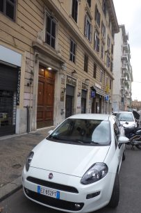My rental car and my building in Rome...