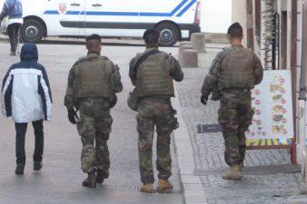 Military on patrol