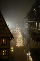 Foggy night in Nuremberg