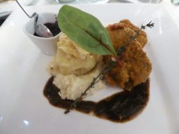 Deep fried venison and mashed potatoes...