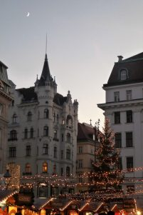 A Christmas Market in a beautiful setting