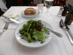 A salad and crusty French bread