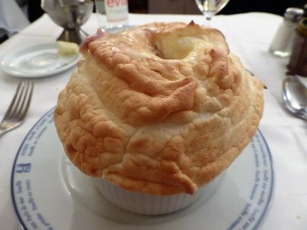 A savory souffle main course.. filled with chicken, mushrooms and gravy... oh my gravy!
