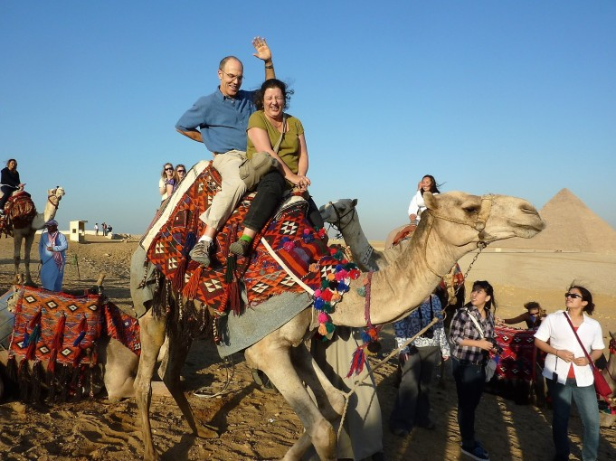 Dan and LeeAnn just before their camel incident