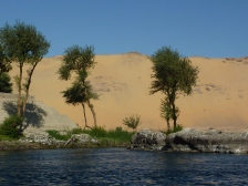 From our felucca on the way to Elephantine Island
