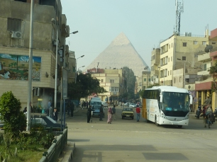 On the way to Giza