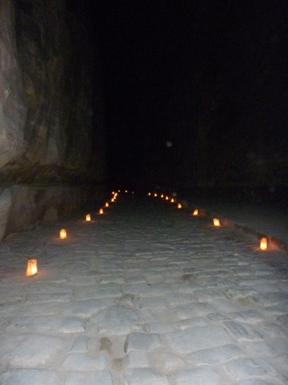 Candlelight walk through the Siq to Petra