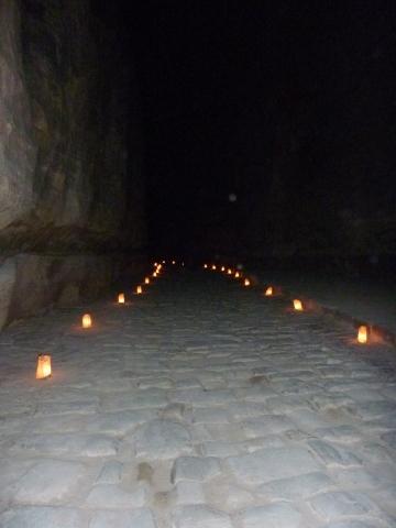 Candlelight walk through the Siq to Petra
