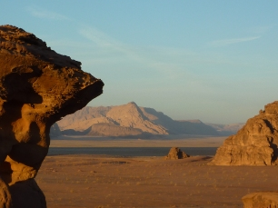 The gorgeous vistas at Wadi Rum