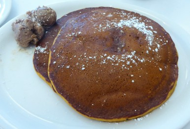 Pumpkin Pancakes at 24th Street Cafe