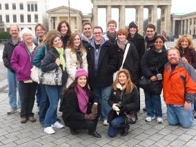 At Berlin's Brandenburg Gate in 2007