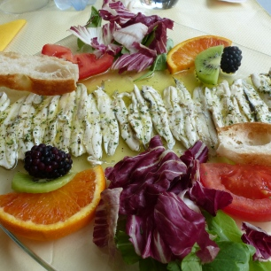 A gorgeous fresh anchovy appetizer