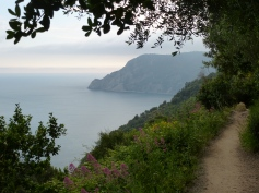 One of the beautiful vistas greeting hikers in the Cinque Terre