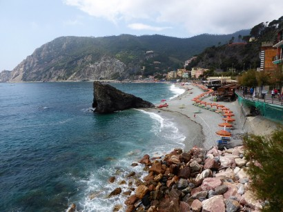 The main beach in Monterosso
