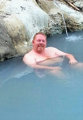 Soaking in the mineral springs