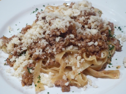 Tagliatelle with Duck Ragout and the BEST Parmigiano cheese