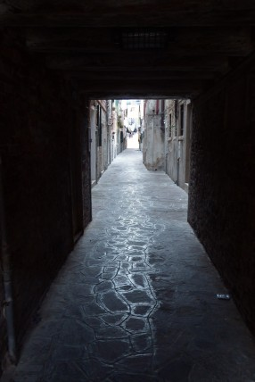 The passageways and narrow streets of Venice