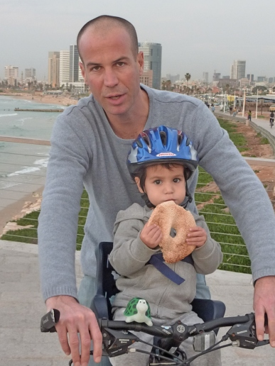 A father and son, and the bagel that ate Tel Aviv...