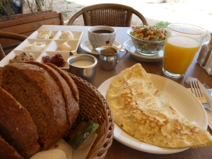 A typical Israeli breakfast