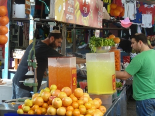 A juice bar inside the markets