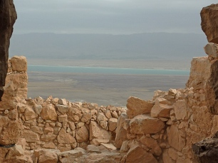 Looking across the Dead Sea toward Jordan from Masada