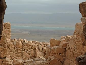 Looking across the Dead Sea toward Jordan from Masada
