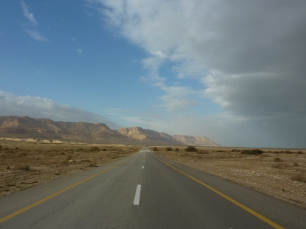 On the road to the Dead Sea