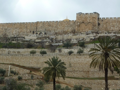 The Walls of Jerusalem from Gethsemane