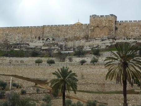 The Walls of Jerusalem from Gethsemane